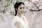 Hoa hậu Ngọc Hân rạng rỡ trong bộ váy cưới màu trắng