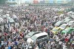 Tuyến đường Cầu Giấy - Phạm Văn Đồng trong lúc rước linh cữu Đại tướng