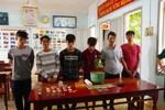 Bắt quả tang 6 đối tượng mua bán, tàng trữ chất ma túy