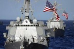 Mỹ - Nhật - Hàn dàn 7 tàu khu trục đón lõng bắn hạ tên lửa Triều Tiên