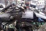 Trực thăng Apache AH-64E Đài Loan vừa sắm rơi xuống nhà dân