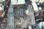 Chung cư sập trong động đất ở Đài Loan xây bằng vật liệu kém