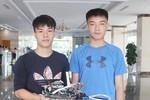 Học sinh sáng tạo mô hình robot tự hành phát hiện, định vị, dò mìn