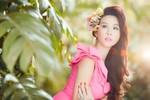 Ngắm bộ ảnh chào xuân 2014 rực rỡ của 'Hoa hậu 3 con'