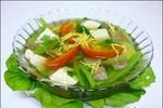 Món ngon cho mùa thu: canh gan lợn rau cải