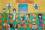 Tranh dự thi của Thanh Thảo, lớp 5A9, Tiểu học Đoàn Thị Điểm(MS: 184)