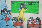 Tranh dự thi của Quỳnh Chi, lớp 4A, Tiểu học Đoàn Thị Điểm (MS: 186)