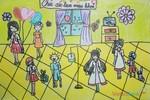 Tranh dự thi của Huyền Vy, lớp 5A9, Tiểu học Đoàn Thị Điểm (MS: 189)