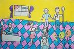 Tranh dự thi của Trọng Nhân, lớp 5A9, Tiểu học Đoàn Thị Điểm (MS: 190)