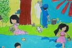 Tranh dự thi của Thái An, lớp 5A4, Tiểu học Đoàn Thị Điểm (MS: 191)