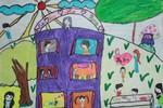 Tranh dự thi của Hiền Mai, lớp 5A4, Tiểu học Đoàn Thị Điểm (MS: 193)