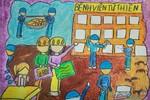 Tranh dự thi của Lâm Khanh, lớp 5A8, Tiểu học Đoàn Thị Điểm (MS:197)