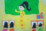 Tranh dự thi của Khánh Ngân, lớp 2A, Tiểu học Khương Thượng (MS: 206)