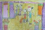 Tranh dự thi của Hà My, lớp 2A2, Tiểu học Đồng Nhân (MS:347)