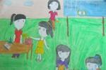 Tranh dự thi của Thanh Ngân, lớp 2A1, Tiểu học Đồng Nhân (MS:331)