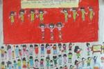 Tranh dự thi của Bích Hường, lớp 3A3, Tiểu học Đồng Nhân (MS:334)