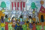 Tranh dự thi của Hà Chi, lớp 5A2, Tiểu học Đồng Nhân (MS:342)