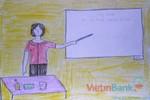 Tranh dự thi của Hà Trang,lớp 5C,Trường Tiểu học Dịch Vọng A(MS:353)