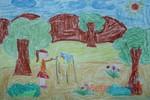 Tranh dự thi của Khánh Linh,lớp 4H,Trường Tiểu học Dịch Vọng A(MS:361)