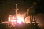 Tàu siêu cẩu Wealthy Global bùng cháy dữ dội trên biển Vũng Tàu