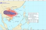 Bão số 10 mạnh cấp 14 đã đổ bộ vào khu vực quần đảo Hoàng Sa