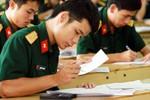 Công bố điểm mới trong tuyển sinh quân sự