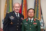 Tướng Đỗ Bá Tỵ hội đàm với CT Hội đồng Tham mưu trưởng Liên quân Mỹ
