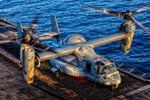 Cận cảnh trực thăng MV-22 Osprey trên tàu đổ bộ Mỹ - USS Kearsarge