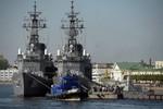 2 tàu khu trục Nhật Bản đến cảng Petersburg của Nga