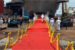 Hình ảnh đầu tiêu về tàu sân bay tự chế tạo INS Vikrant của Ấn Độ