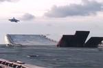 Video: Tàu sân bay Nga lần đầu tiên đến eo Biển Mache
