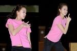 'Nữ hoàng' thể dục Hàn Quốc diện áo hồng xinh như thiên thần