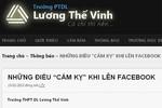 Sở GD-ĐT HN lên tiếng việc cấm chửi bậy trên Facebook