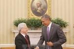 Những hình ảnh đẹp của Tổng Bí thư Nguyễn Phú Trọng và Tổng thống Obama