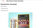 Cẩn trọng với quảng cáo thực phẩm bảo vệ sức khỏe Kanka Katasuryokujin