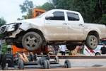 Truy tìm tài xế lái xe đâm trung tá CSGT gãy răng cửa