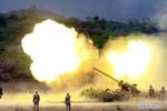 Ảnh: Quân đội Campuchia tập trận bắn đạn thật với pháo BM-21