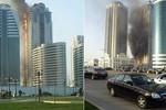 Khách sạn chọc trời ở Chechnya bùng cháy