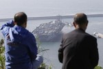 Video: Cụm tàu sân bay USS Nimitz cập cảng Hàn Quốc