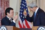 Ảnh: Chủ tịch nước Trương Tấn Sang hội kiến Ngoại trưởng Mỹ ngày 24/7