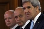 Kerry muốn nghị quyết đe dọa vũ trang Syria, Lavrov nói sẽ phủ quyết
