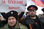 Hàng ngàn người Nga biểu tình ủng hộ Crimea