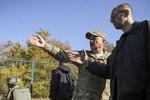 Ukraine xây hào chống tăng, công sự dọc biên giới Nga