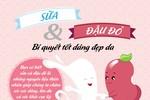 Sữa và đậu đỏ: Bí quyết tốt dáng đẹp da