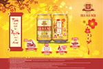 Uống bia lon Hà Nội Tết Bính Thân 2016 nhận tài lộc lớn