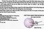 Lại xuất hiện công văn giả chữ ký của Chủ tịch tỉnh Quảng Nam