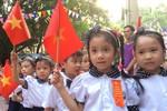 Ngày khai trường đặc biệt tại trường Tiểu học Thịnh Quang