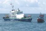 Cảnh sát Biển bắt giữ vụ mua, bán dầu trái phép
