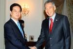 Thủ tướng Nguyễn Tấn Dũng hội kiến các lãnh đạo Singapore