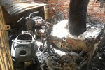 TT Bộ GD&ĐT bốc cháy ngùn ngụt, hàng chục xe tay ga bị thiêu rụi
